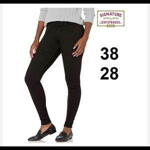 LEVI STRAUSS SIMPLY STRETCH MID RISE SKINNY JEANS